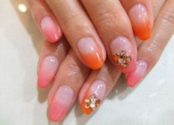 ピンク×オレンジのカラーグラデーション