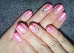 ピンク×ラメコート